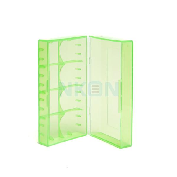 2x 18650 of 4x 18350 caixa para pilhas (VERDE)
