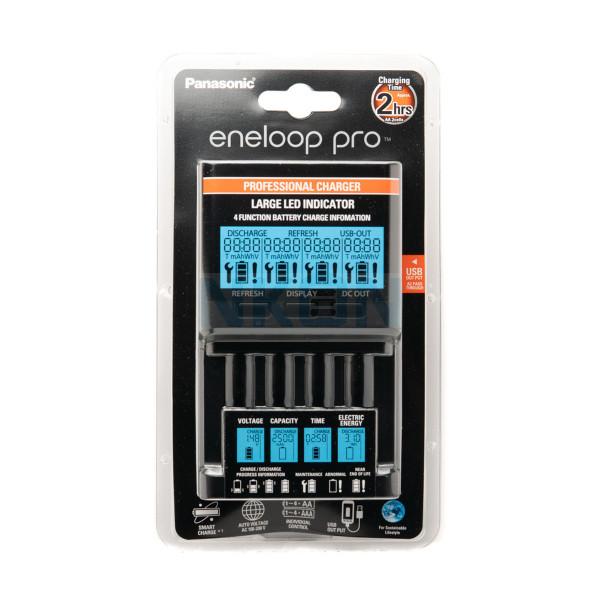 Carregador Panasonic Eneloop BQ-CC65 PRO