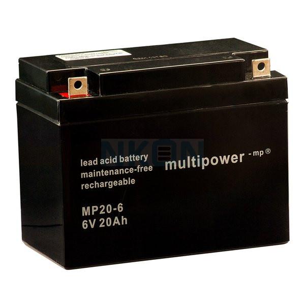 Multipower 6V 20Ah Bateria chumbo-ácido