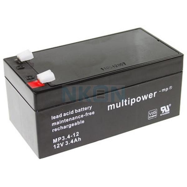 Multipower 12V 3.4Ah Bateria chumbo-ácido