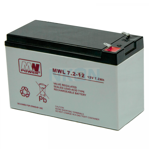 MWPower Deep Cycle 12V 7,2Ah Bateria de Chumbo-ácido   (6.3mm)