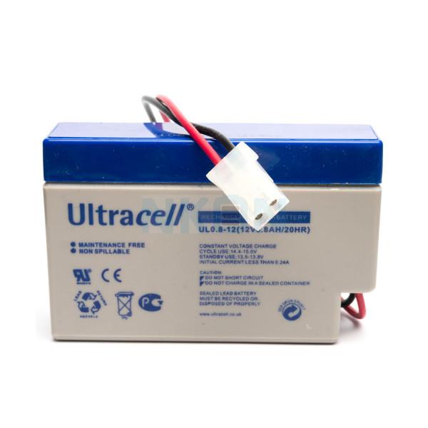 Ultracell 12V 0.8Ah Bateria chumbo-ácido com entrada AMP