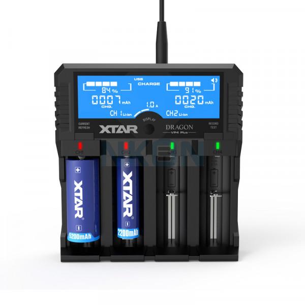 Carregador de Bateria XTAR VP4 Plus Dragon
