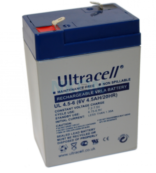 Ultracell 6V 4.5Ah Bateria chumbo-ácido