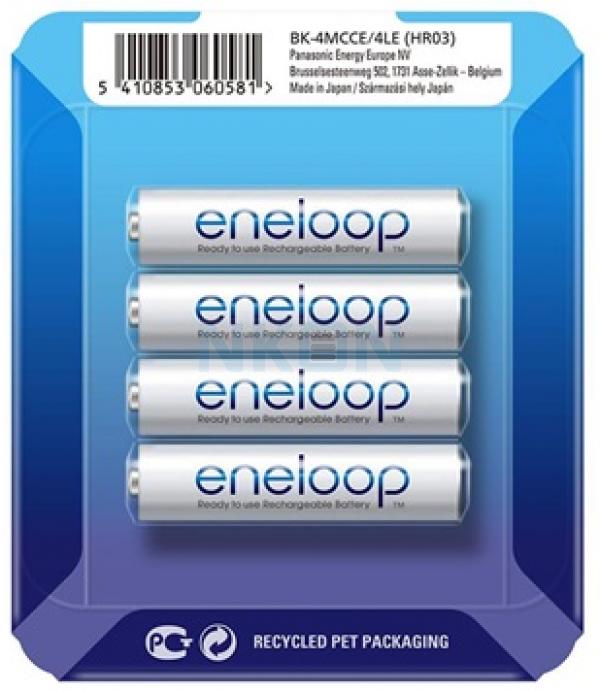 4 AAA Eneloop - deslizante blister - 750mAh
