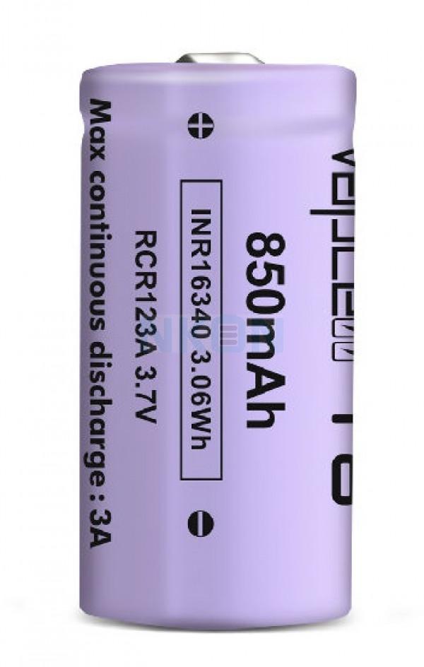 Vapcell INR16340 850mAh - 3A Botão superior