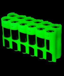 Suporte para 12 pilhas AA da Powerpax - brilha no escuro