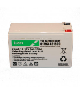 Lucas 12V 7Ah Bateria de chumbo ácido