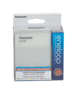 Panasonic Eneloop BQ-CC87 carregador de bateria + 4 AA Eneloop (1900mAh)