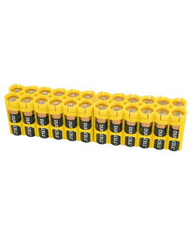 Suporte de pilhas 24 AA Powerpax Battery  - Amarelo