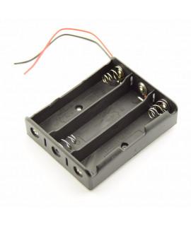 3x 18650 Suporte para pilhas com fios soltos