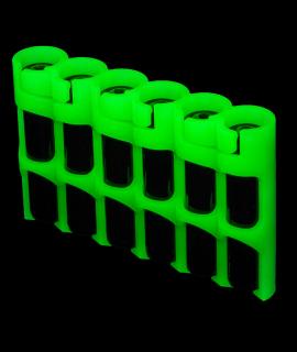 Suporte para 6 pilhas AAA da Powerpax - brilha no escuro