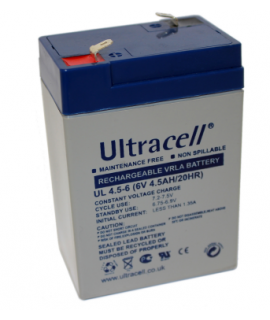 Ultracell 6V 4.5Ah Bateria acidificada ao chumbo