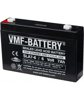 VMF 6V 7Ah bateria acidificada ao chumbo
