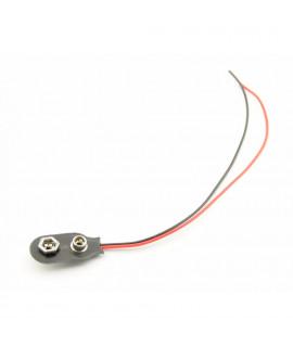Clipe para pilha de 9V com fios soltos - SOFT