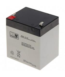 MWPower 12V 5Ah Bateria chumbo-ácido