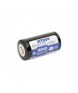 XTAR 16340 650mAh (protegido) - 1,2A