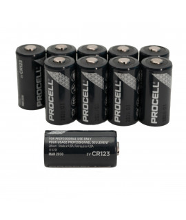 10x CR123A Duracell Procell - 3V