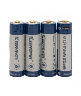 4x Keeppower AA 1950mAh (protected) - 1.5A - USB