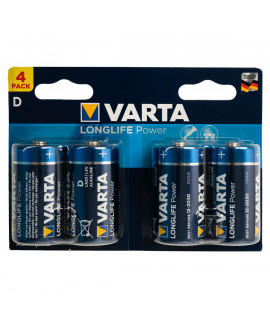 4x D Varta Longlife Power - 1.5V