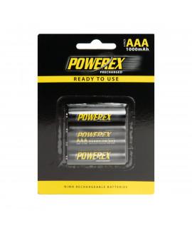 4 AAA Maha Powerex Precharged - Embalagem padrão varejo - 950mAh