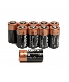 10x CR123A Duracell Lithium  - 3V