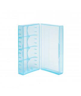2x 18650 of 4x 18350 caixa para pilhas (AZUL)