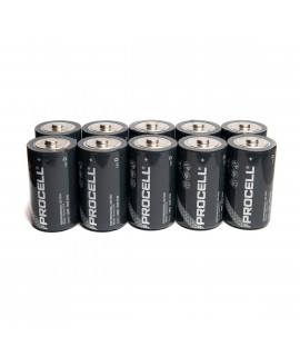 10x D Duracell Procell / Industrial - 1.5V