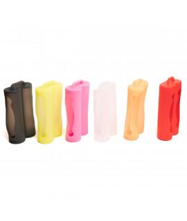 Suporte de pilhas de silicone para 2x18650