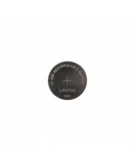 Célula de botão li-ion recarregável LIR2450 - 120mAh