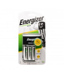 Carregador de bateria base Energizer + 4 AA Energizer (1300mAh)