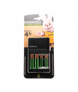 Carregador de bateria Duracell com valor HI-Speed + 2 AA Duracell (1300mAh) + 2 AAA Duracell (850mAh)