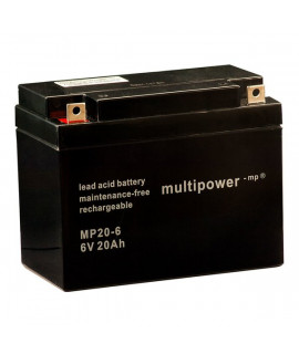 Multipower 6V 20Ah Bateria de chumbo