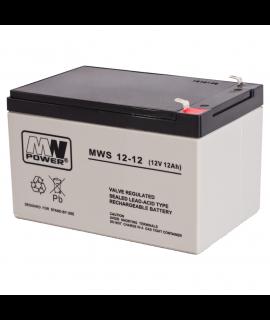 MWPower MWS 12V 12Ah Bateria chumbo-ácido  (6.3mm)