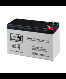 MWPower MWS 12V 7.2Ah Bateria chumbo-ácido