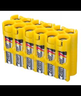 12 capa de bateria AAA Powerpax - Amarelo