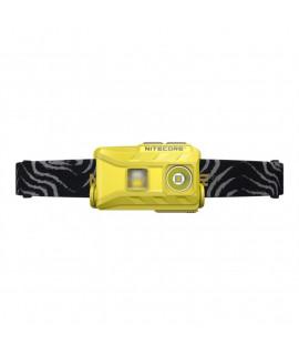 Lanterna com suporte para cabeça Nitecore NU25  - Recarregável por USB - Amarelo