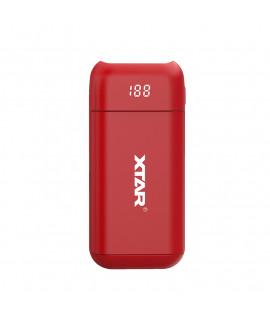 XTAR PB2 powerbank / carregador de bateria - Vermelho