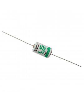 Lítio SAFT LS14250 / 1/2AA com fios de solda (CNA) - 3.6V