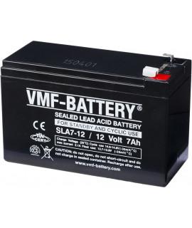 VMF 12V 7Ah bateria acidificada ao chumbo