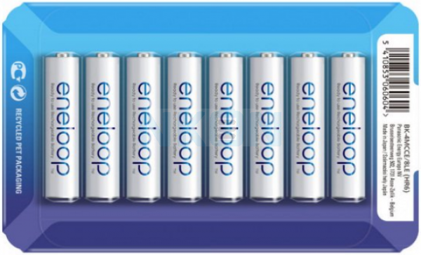 8 AAA Eneloop - coulissant blister - 750mAh