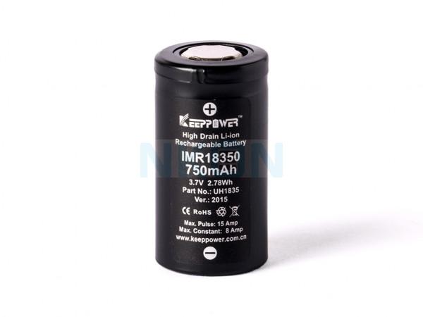 Keeppower IMR 18350 750mAh - 8A
