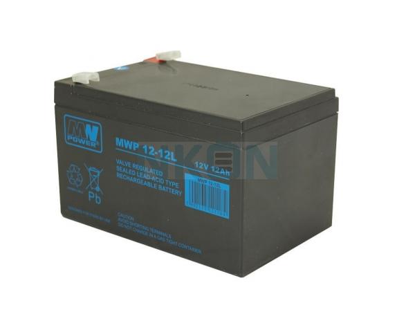 MWPower Deep Cycle 12V 12Ah Batterie au plomb (6.3mm)