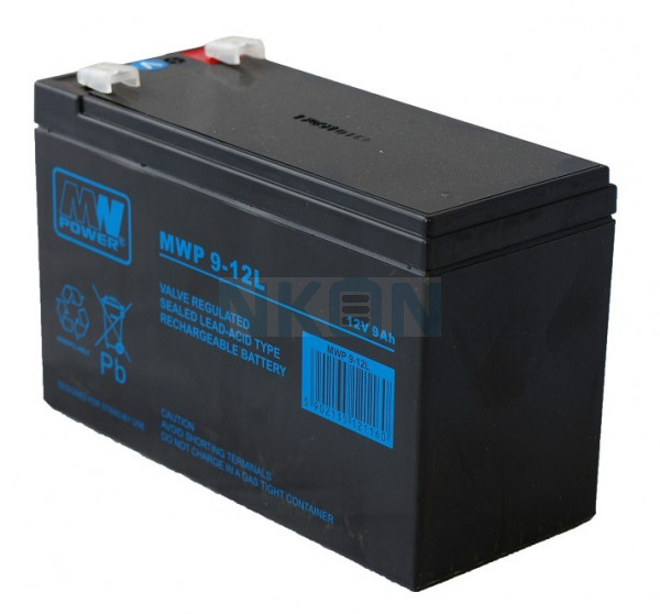 MWPower Deep Cycle 12V 9Ah Batterie au plomb (6.3mm)