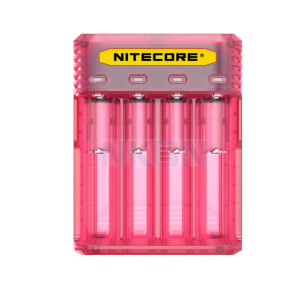 Nitecore Q4 Chargeur de batterie - Pinky Peach