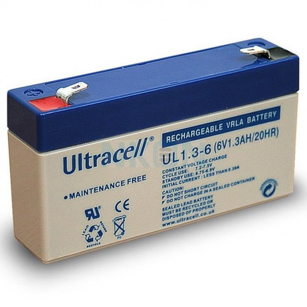Ultracell 6V 1.3Ah Batterie au plomb