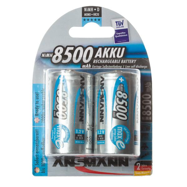 2 D Ansmann maxE - 8500mAh