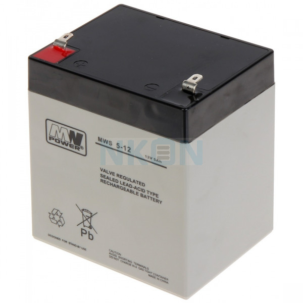 MWPower 12V 5Ah Batterie au plomb