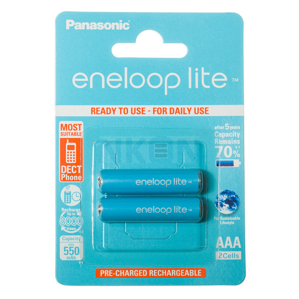 2 AAA piles Eneloop Lite - blister - 550 mAh