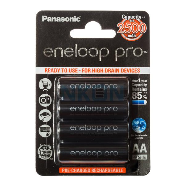 4 AA Eneloop Pro piles - blister - 2 500 mAh